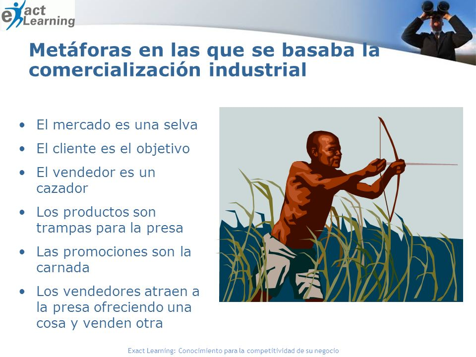 Metáforas en las que se basaba la comercialización industrial