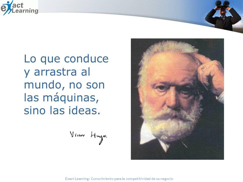 Lo que conduce y arrastra al mundo, no son las máquinas, sino las ideas.