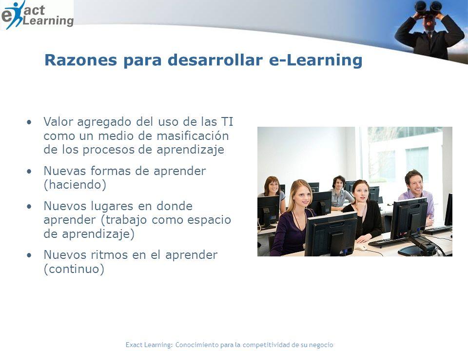 Razones para desarrollar e-Learning