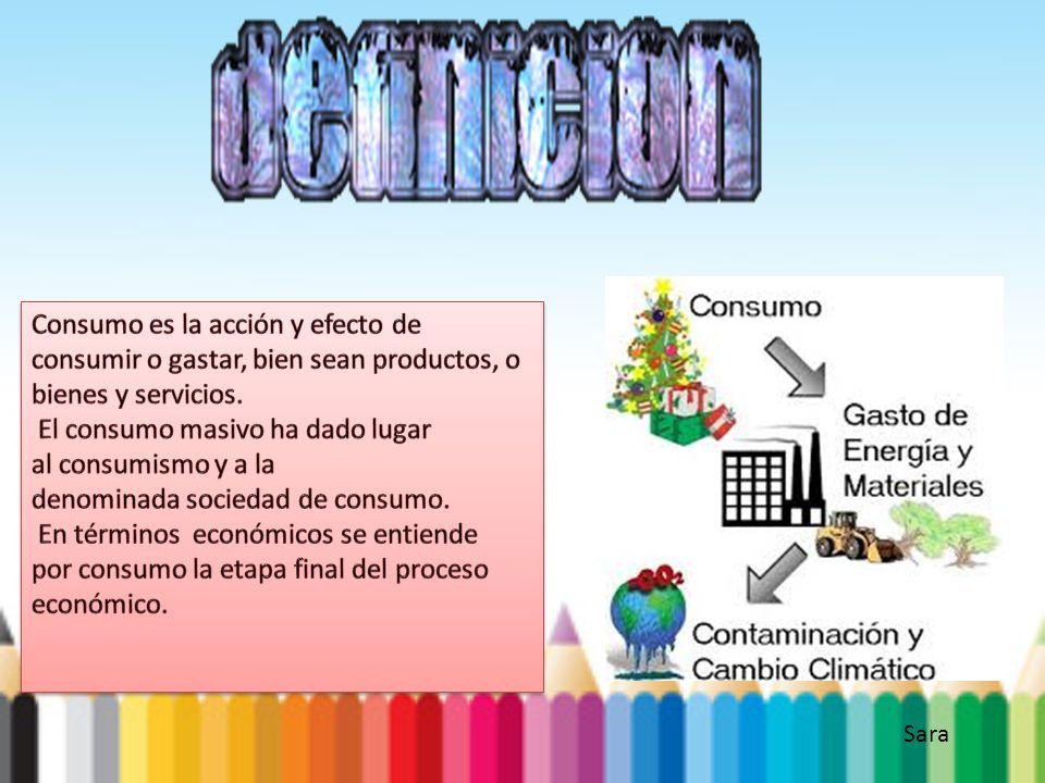 Consumo es la acción y efecto de consumir o gastar, bien sean productos, o bienes y servicios.