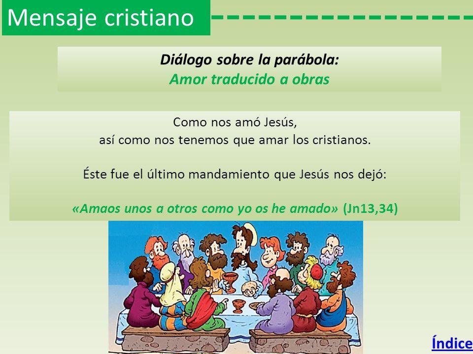Mensaje cristiano Diálogo sobre la parábola: Amor traducido a obras
