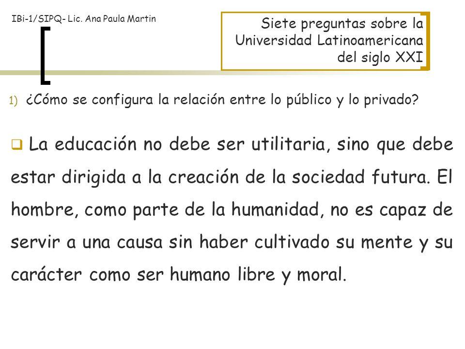 IBi-1/SIPQ- Lic. Ana Paula Martin