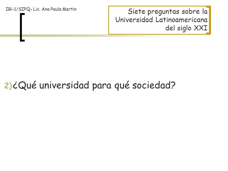 ¿Qué universidad para qué sociedad