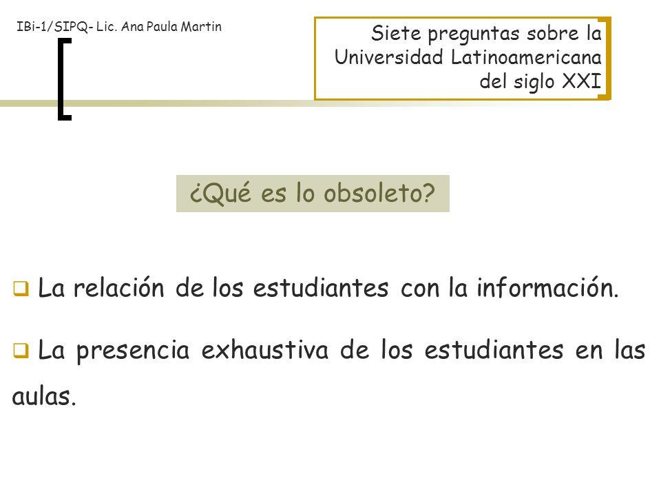 La relación de los estudiantes con la información.