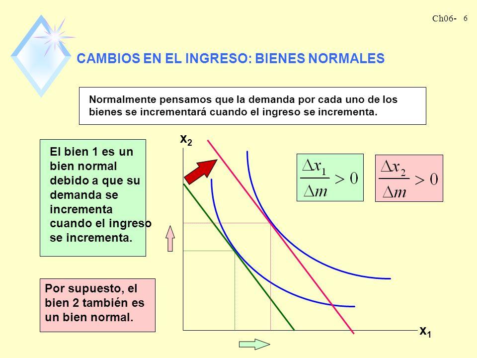 CAMBIOS EN EL INGRESO: BIENES NORMALES