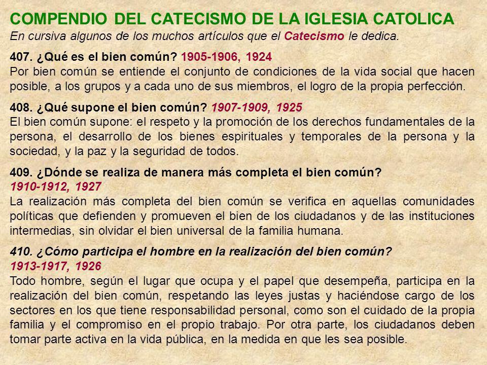 COMPENDIO DEL CATECISMO DE LA IGLESIA CATOLICA