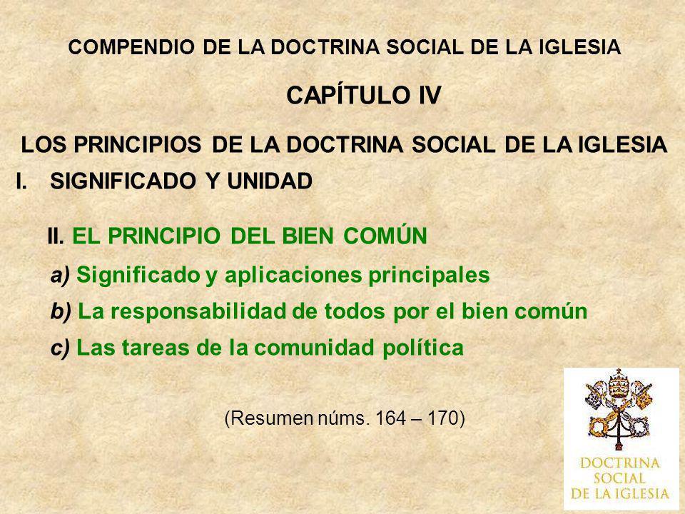 LOS PRINCIPIOS DE LA DOCTRINA SOCIAL DE LA IGLESIA