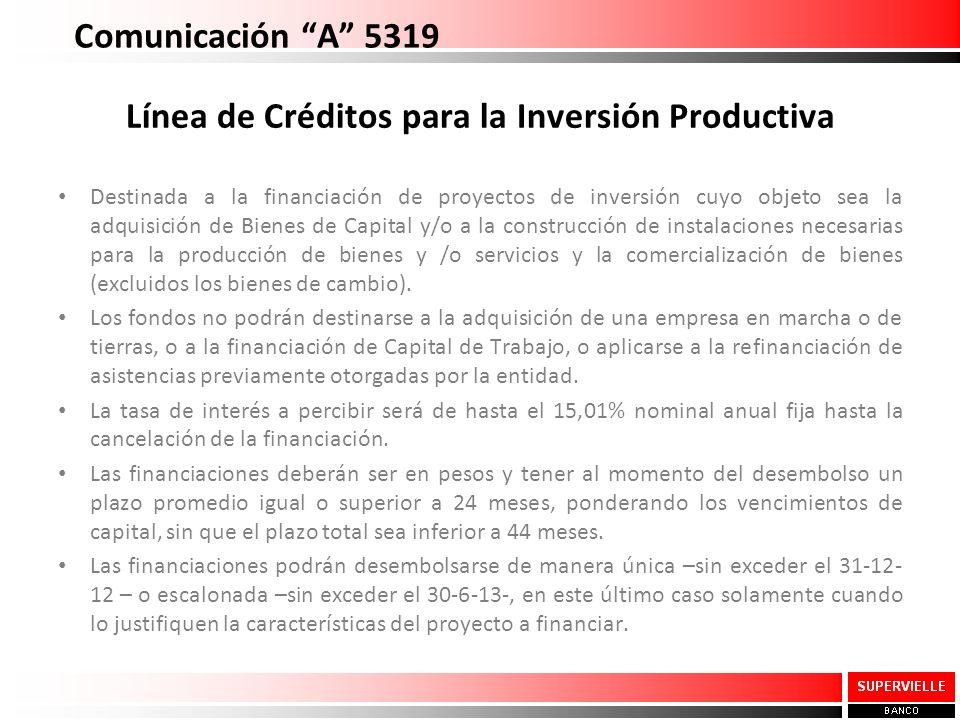Línea de Créditos para la Inversión Productiva
