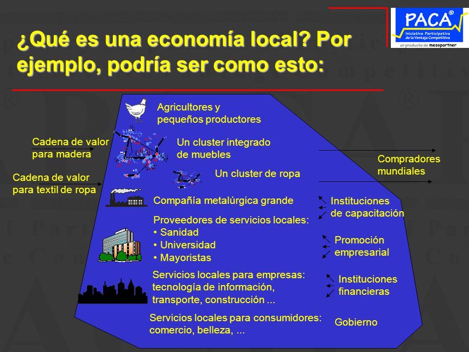 ¿Qué es una economía local Por ejemplo, podría ser como esto: