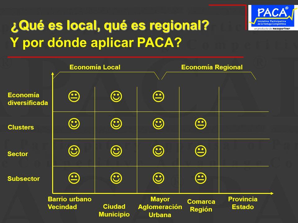 ¿Qué es local, qué es regional