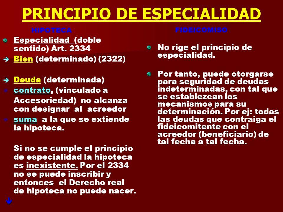 PRINCIPIO DE ESPECIALIDAD