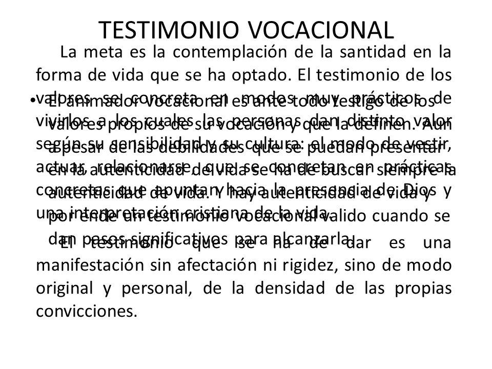 TESTIMONIO VOCACIONAL