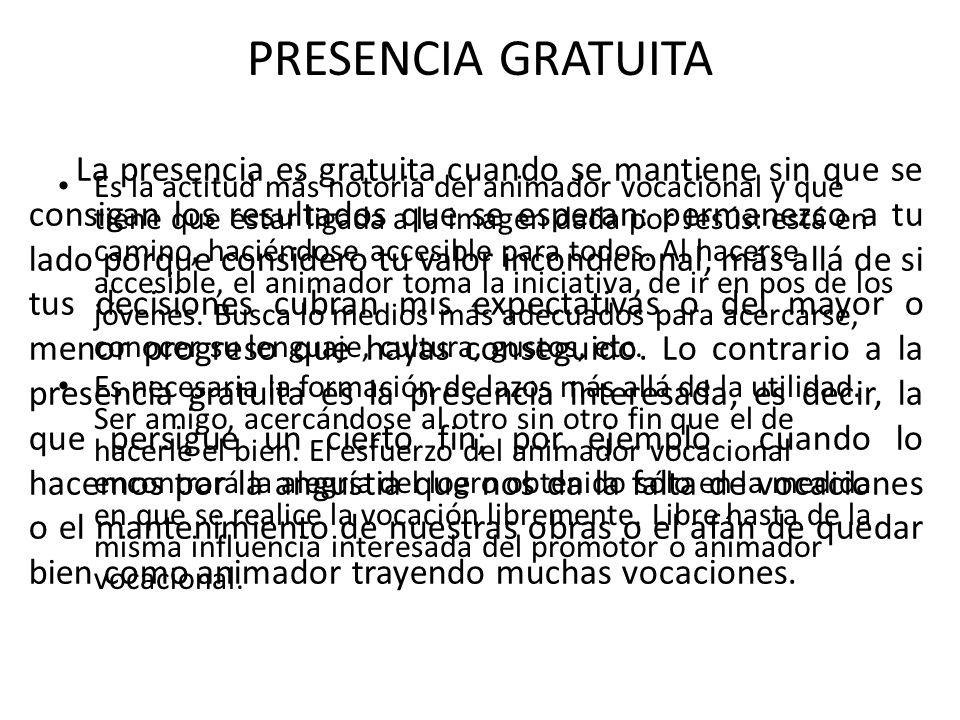 PRESENCIA GRATUITA