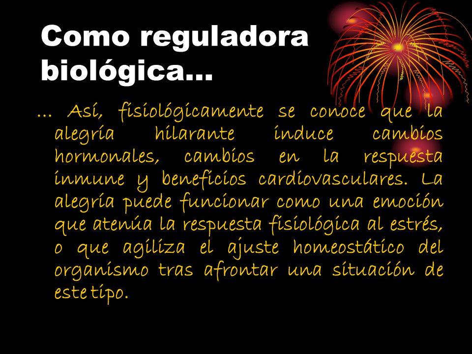 Como reguladora biológica…