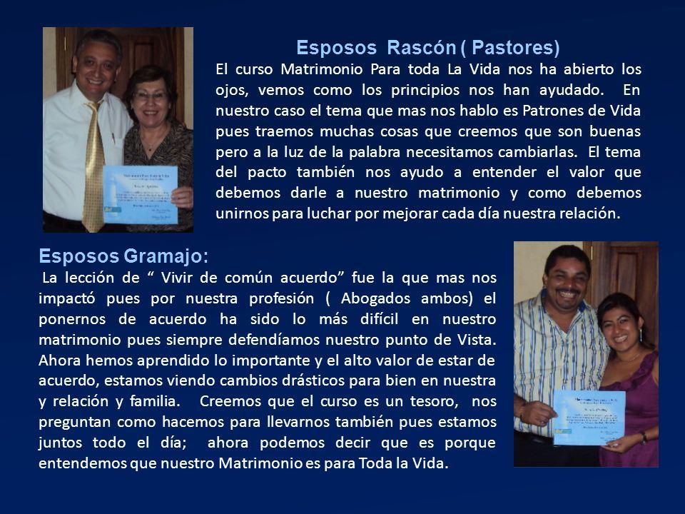 Esposos Rascón ( Pastores)