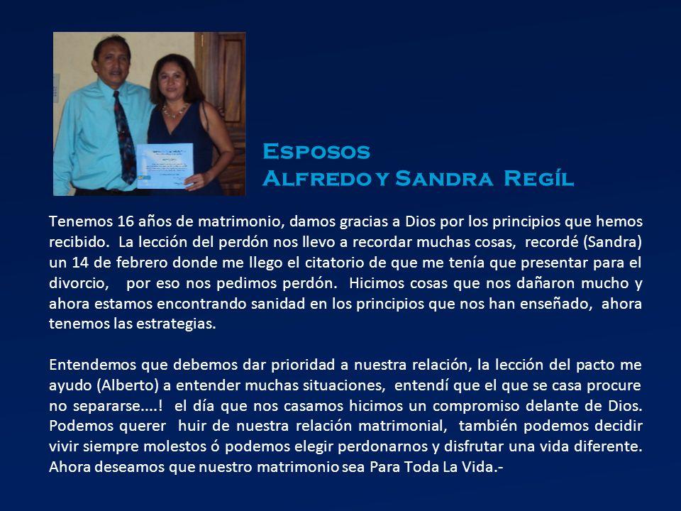 Esposos Alfredo y Sandra Regíl