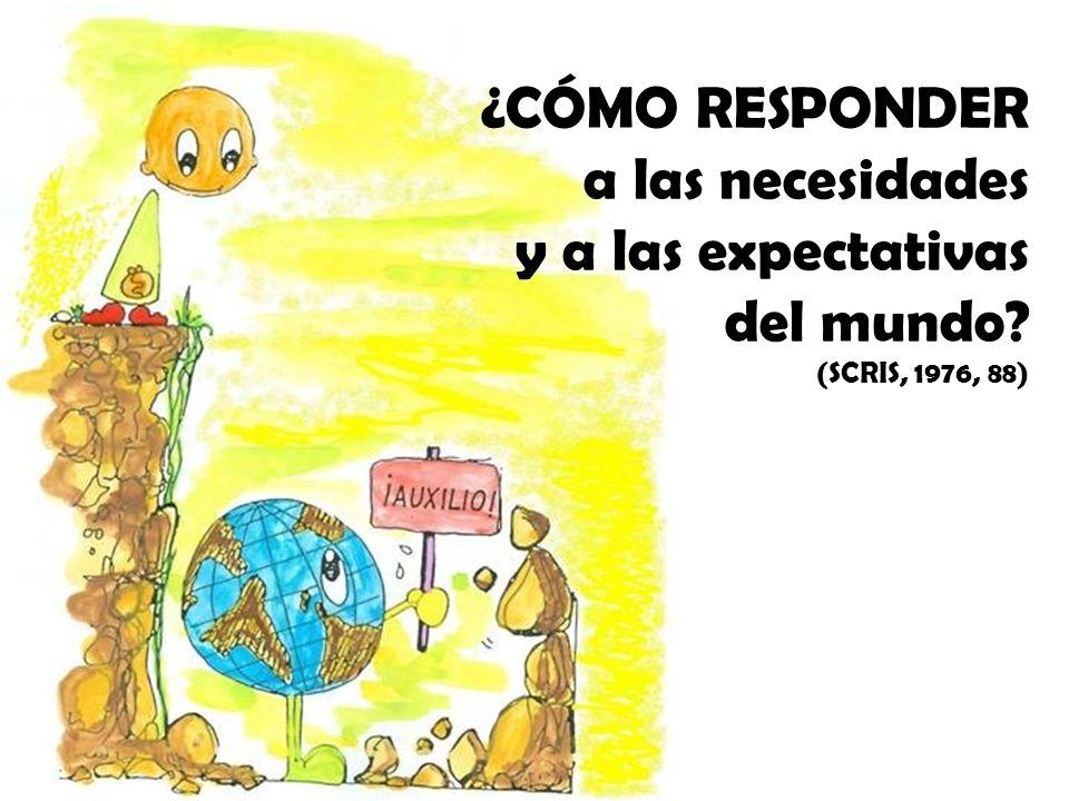 ¿CÓMO RESPONDER a las necesidades y a las expectativas del mundo