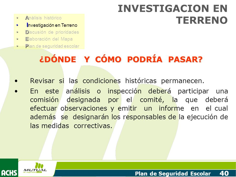 INVESTIGACION EN TERRENO