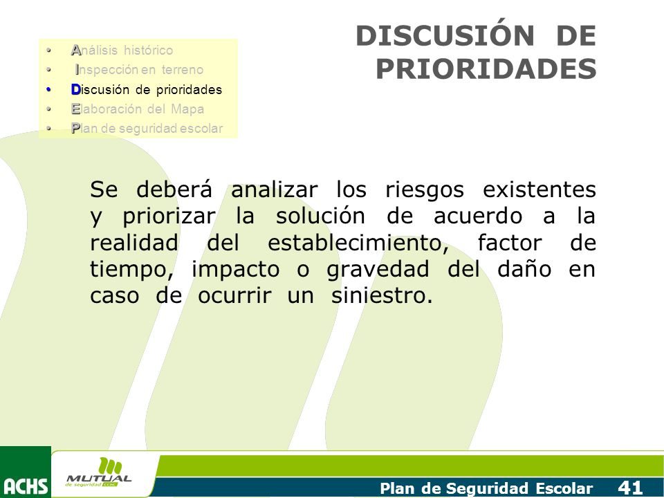 DISCUSIÓN DE PRIORIDADES