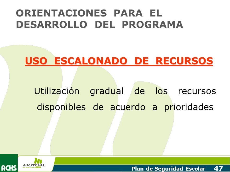 USO ESCALONADO DE RECURSOS