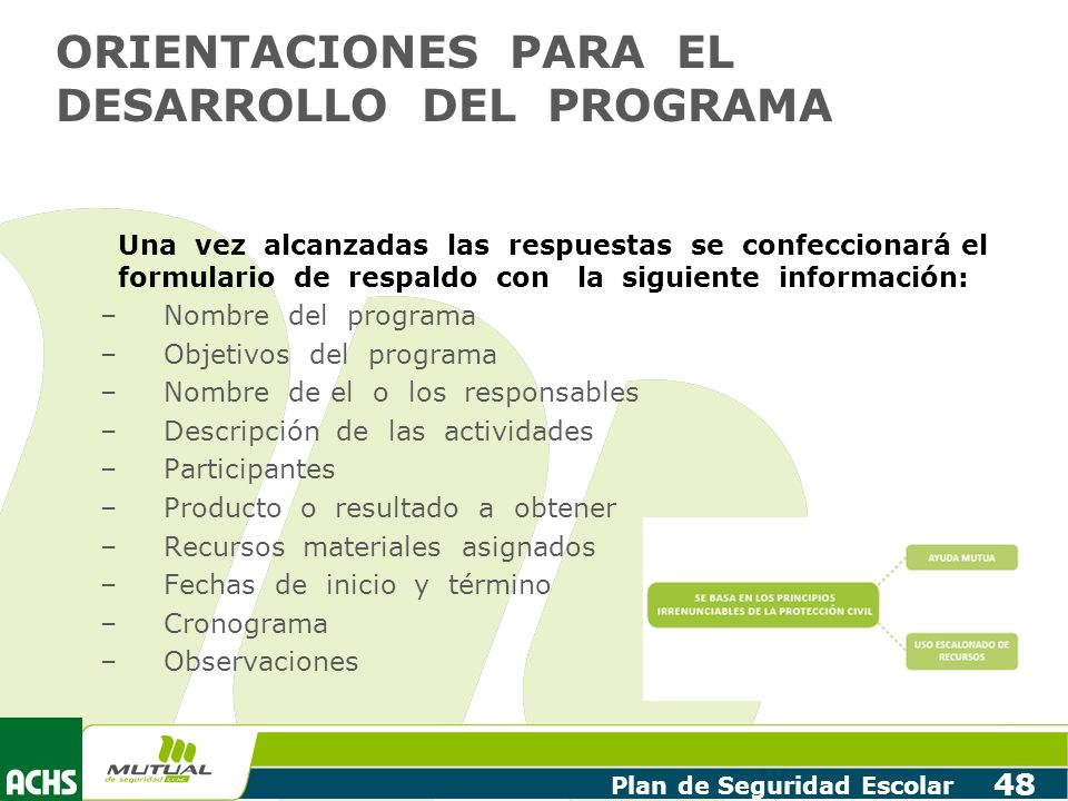 ORIENTACIONES PARA EL DESARROLLO DEL PROGRAMA