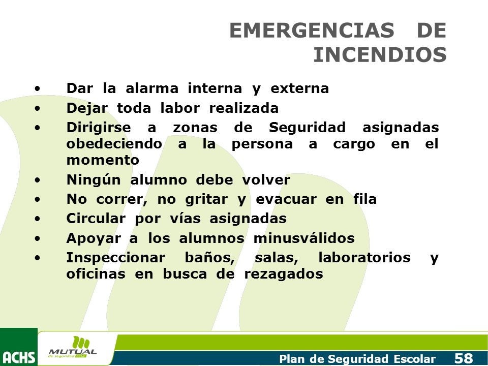 EMERGENCIAS DE INCENDIOS