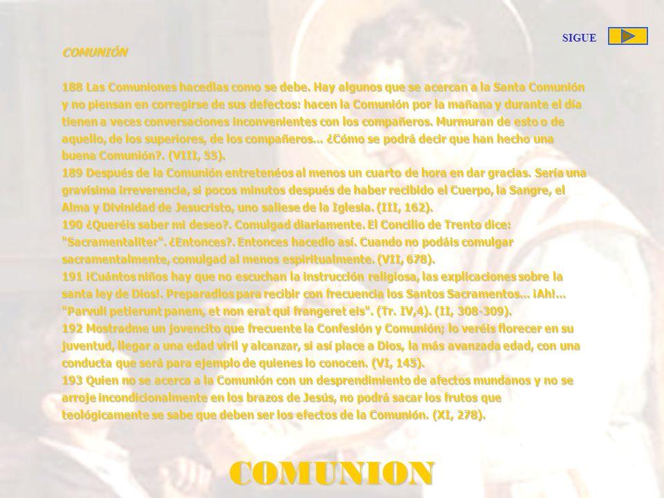 COMUNION SIGUE COMUNIÓN
