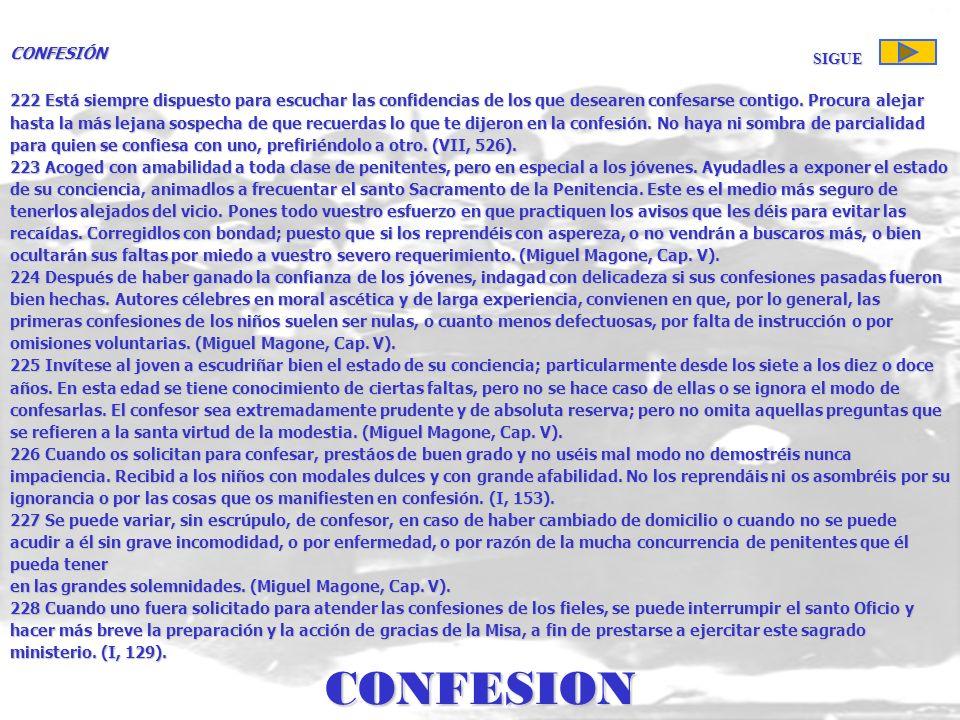 CONFESION CONFESIÓN SIGUE