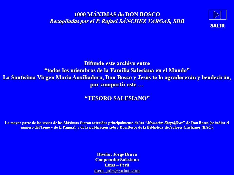Recopiladas por el P. Rafael SÁNCHEZ VARGAS, SDB