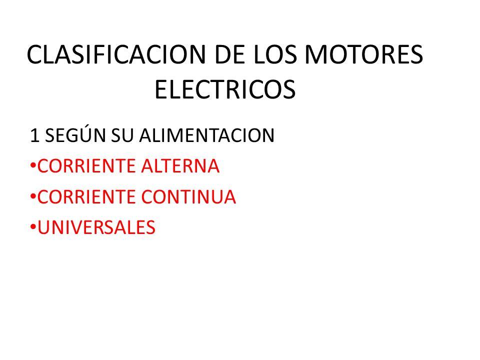 CLASIFICACION DE LOS MOTORES ELECTRICOS