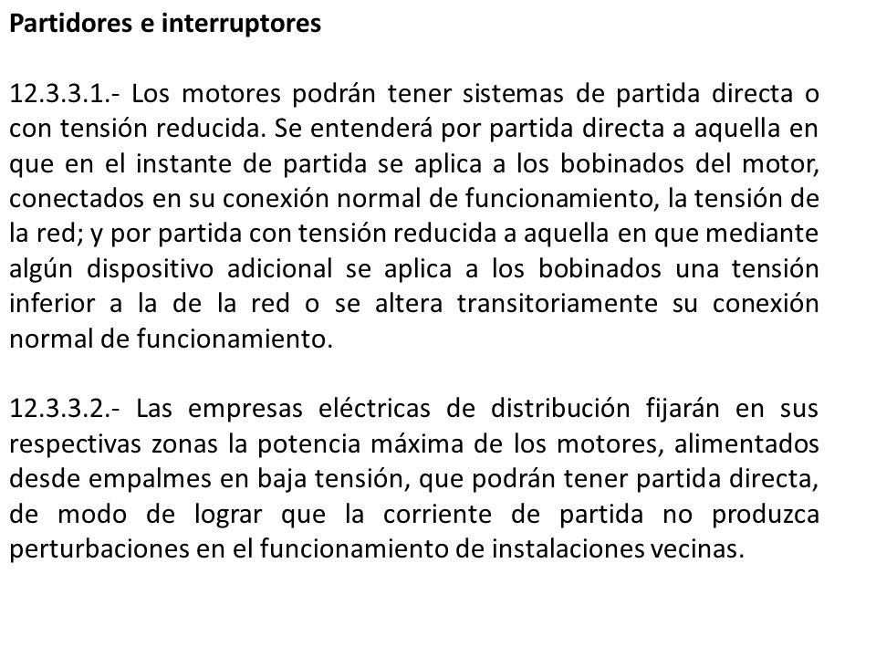 Partidores e interruptores