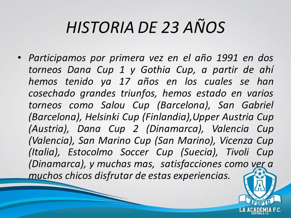 HISTORIA DE 23 AÑOS