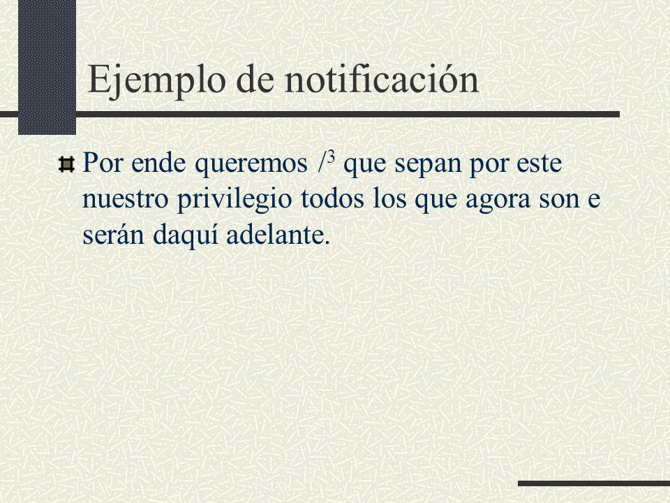 Ejemplo de notificación