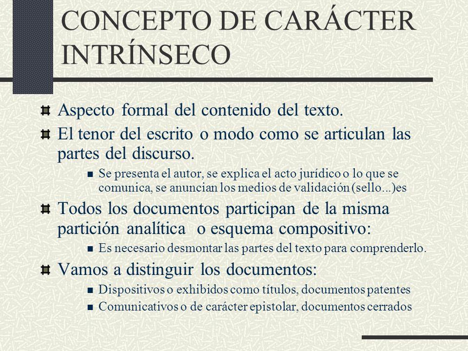 CONCEPTO DE CARÁCTER INTRÍNSECO