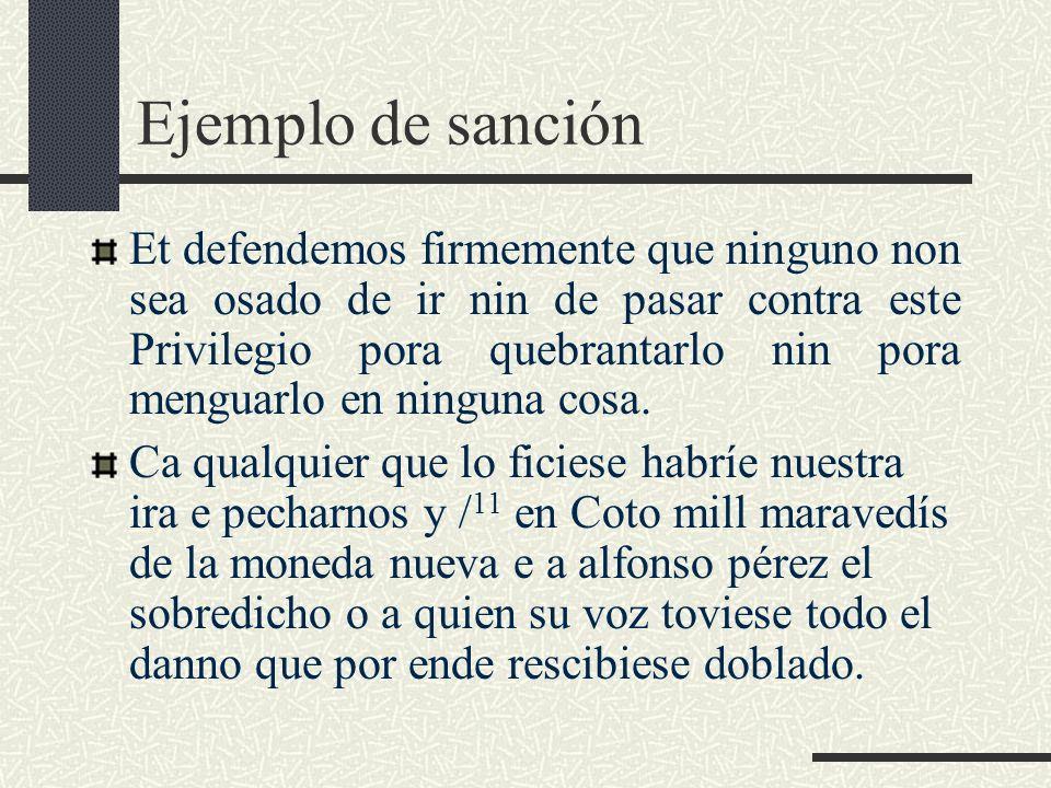Ejemplo de sanción