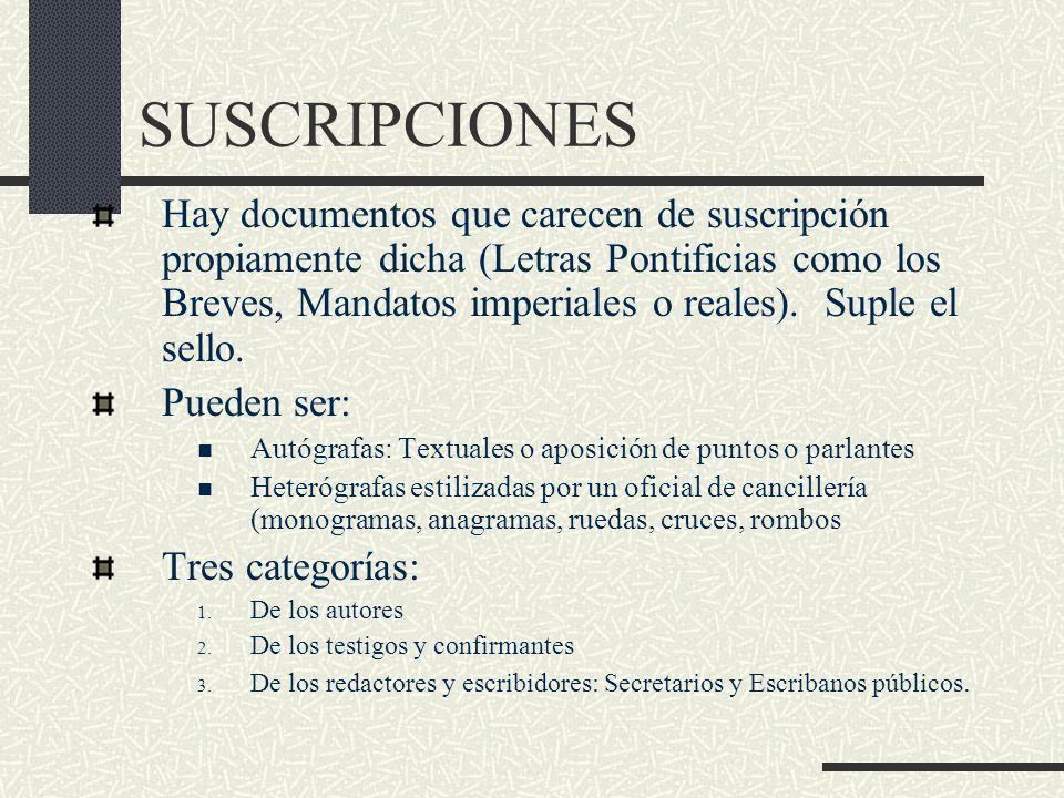 SUSCRIPCIONES