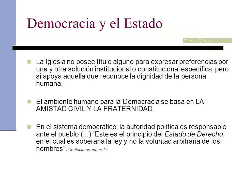 Democracia y el Estado