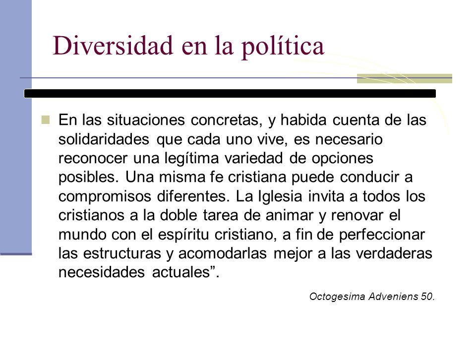 Diversidad en la política