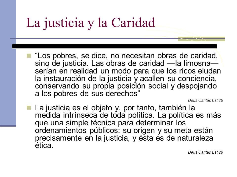 La justicia y la Caridad