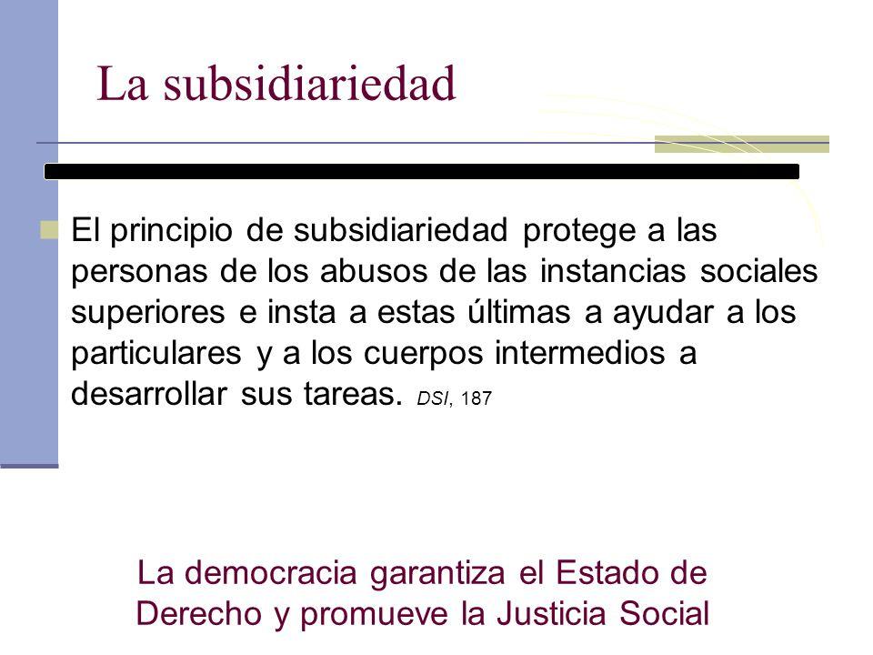 La subsidiariedad