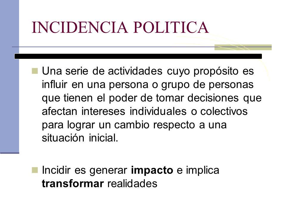 INCIDENCIA POLITICA