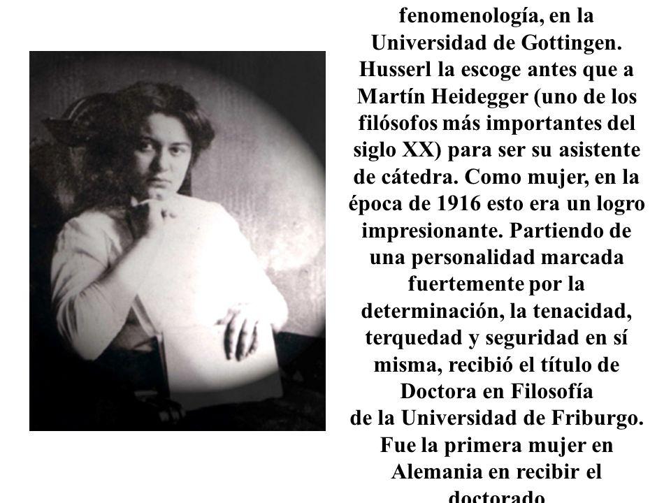 Fue la primera mujer en Alemania en recibir el doctorado