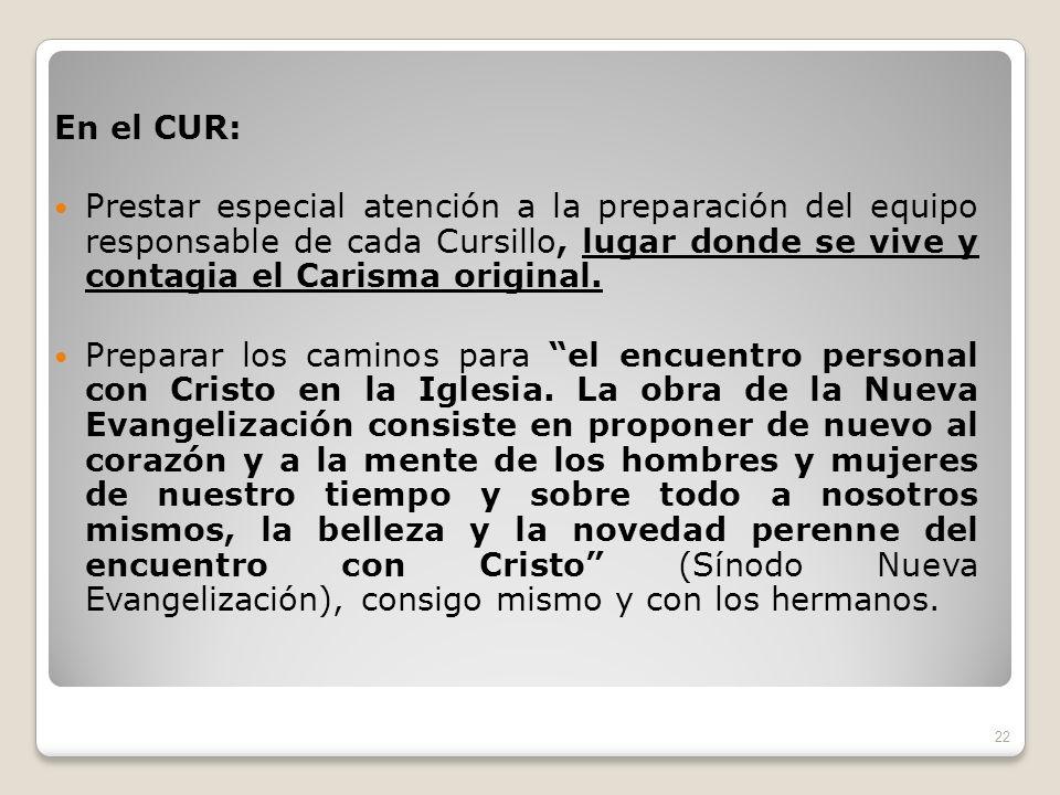 En el CUR: