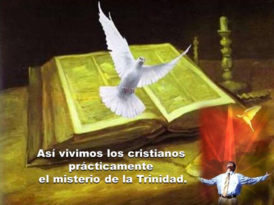 Así vivimos los cristianos prácticamente el misterio de la Trinidad.
