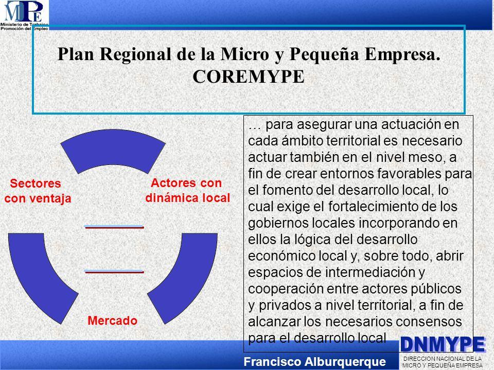 Plan Regional de la Micro y Pequeña Empresa.