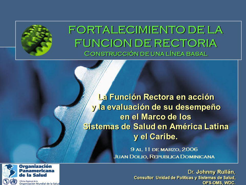 FORTALECIMIENTO DE LA FUNCION DE RECTORIA Construcción de una línea basal