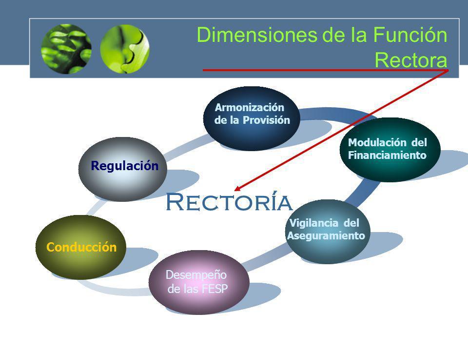 Rectoría Dimensiones de la Función Rectora Regulación Conducción