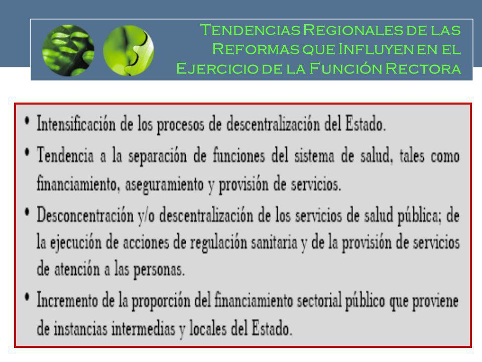 Tendencias Regionales de las Reformas que Influyen en el Ejercicio de la Función Rectora
