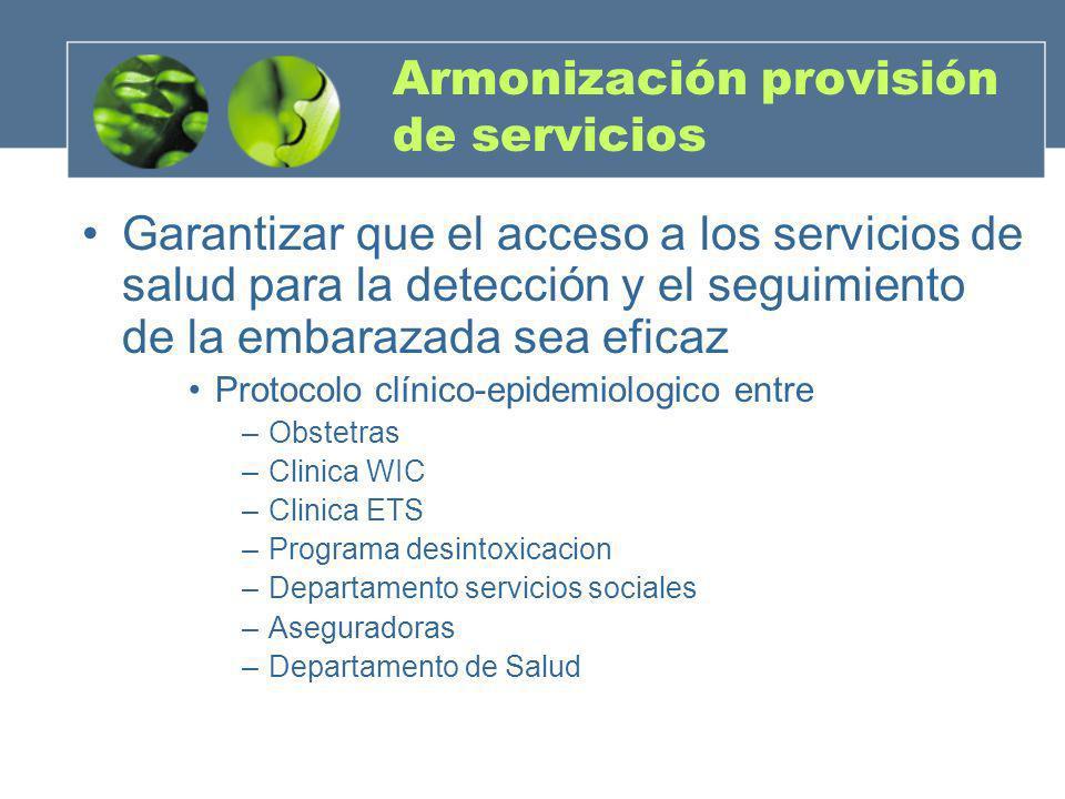 Armonización provisión de servicios