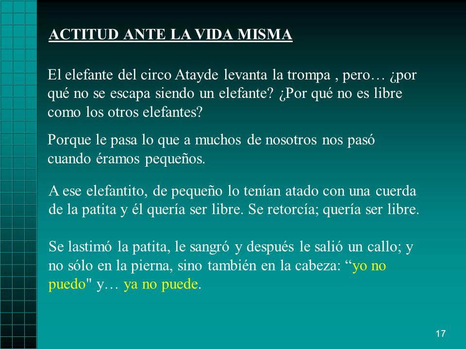 ACTITUD ANTE LA VIDA MISMA